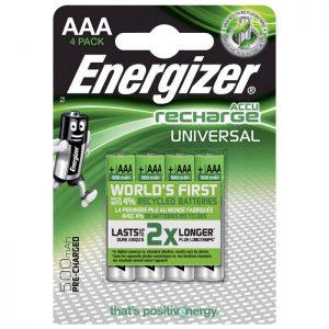 ENERGIZER AAA-HR03/500mAh/4TEM UNIVERSAL RECHARGEABLE  F016555 | ΜΠΑΤΑΡΙΕΣ / ENERGY | elabstore.gr