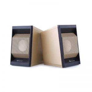 KISONLI Multimedia ηχεία Τ-006, 2.0ch, 2x 3W,  USB/Jack 3.5mm, χρυσά | Συνοδευτικά PC | elabstore.gr