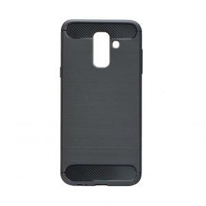 POWERTECH Θήκη Carbon Flex για Samsung Galaxy A6 Plus, μαύρη   Αξεσουάρ κινητών   elabstore.gr