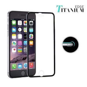 POWERTECH Tempered Glass 3D Full Face, iPhone 7/8 Plus, titanium, Black | Αξεσουάρ κινητών | elabstore.gr