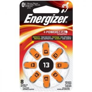 ENERGIZER ZINC AIR 13-8P/8ΤΕΜ HEARING AID BATTERY F016163 | ΜΠΑΤΑΡΙΕΣ / ENERGY | elabstore.gr