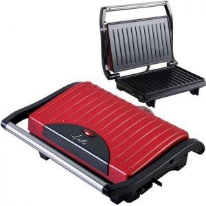 LIFE STG-101 RED Sandwich toaster with grill plates,700W | ΜΙΚΡΟΣΥΣΚΕΥΕΣ / ΕΠΟΧΙΑΚΑ / ΛΕΥΚΕΣ ΣΥΣΚΕΥΕΣ | elabstore.gr