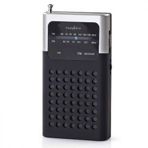 NEDIS RDFM1100GY FM Radio, 1.5 W, Pocket Size, Black / Grey | ΕΙΚΟΝΑ / ΗΧΟΣ | elabstore.gr