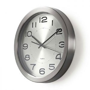NEDIS CLWA010MT30SR Circular Wall Clock, 30 cm Diameter, Stainless Steel | ΜΙΚΡΟΣΥΣΚΕΥΕΣ / ΕΠΟΧΙΑΚΑ / ΛΕΥΚΕΣ ΣΥΣΚΕΥΕΣ | elabstore.gr