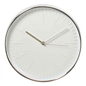 NEDIS CLWA013PC30SR Circular Wall Clock, 30 cm Diameter, White & Silver | ΜΙΚΡΟΣΥΣΚΕΥΕΣ / ΕΠΟΧΙΑΚΑ / ΛΕΥΚΕΣ ΣΥΣΚΕΥΕΣ | elabstore.gr