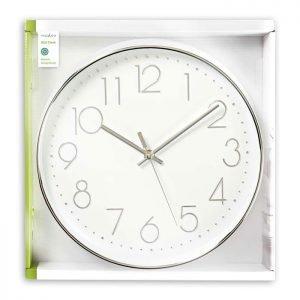 NEDIS CLWA015PC30SR Circular Wall Clock, 30 cm Diameter, White & Silver   ΜΙΚΡΟΣΥΣΚΕΥΕΣ / ΕΠΟΧΙΑΚΑ / ΛΕΥΚΕΣ ΣΥΣΚΕΥΕΣ   elabstore.gr