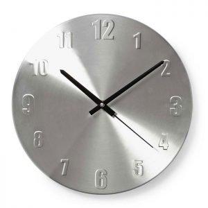 NEDIS CLWA009MT30 Circular Wall Clock, 30 cm Diameter, Aluminium | ΜΙΚΡΟΣΥΣΚΕΥΕΣ / ΕΠΟΧΙΑΚΑ / ΛΕΥΚΕΣ ΣΥΣΚΕΥΕΣ | elabstore.gr