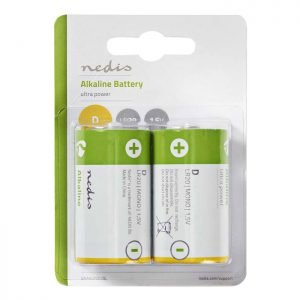 NEDIS BAAKLR202BL Alkaline Battery D, 1.5 V, 2 pieces, Blister | ΜΠΑΤΑΡΙΕΣ / ENERGY | elabstore.gr