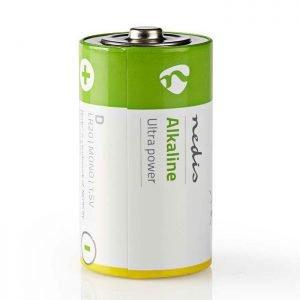 NEDIS BAAKLR202BL Alkaline Battery D, 1.5 V, 2 pieces, Blister | ΜΠΑΤΑΡΙΕΣ / ENERGY | elabstore.gr
