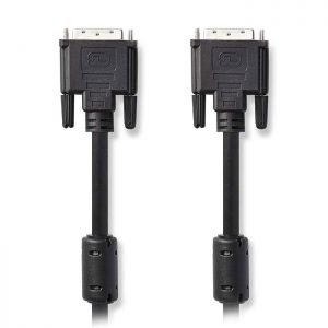 NEDIS CCGP32000BK30 DVI Cable, DVI-D 24+1-Pin Male - DVI-D 24+1-Pin Male, 3.0 m, | ΚΑΛΩΔΙΑ / ADAPTORS | elabstore.gr