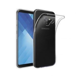 POWERTECH Θήκη Ultra Slim για Samsung Galaxy A8 Plus 2018, διάφανη | Αξεσουάρ κινητών | elabstore.gr
