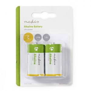 NEDIS BAAKLR142BL Alkaline Battery C, 1.5 V, 2 pieces, Blister | ΜΠΑΤΑΡΙΕΣ / ENERGY | elabstore.gr