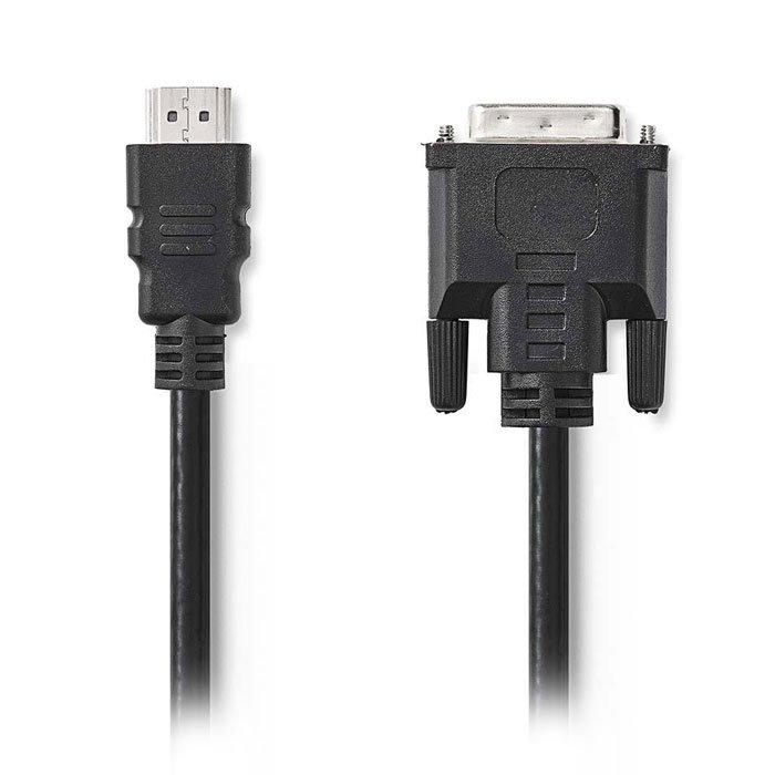 NEDIS CCGP34800BK30 HDMI - DVI Cable | HDMI Connector - DVI-D 24+1-Pin Male, 3.0 | ΚΑΛΩΔΙΑ / ADAPTORS | elabstore.gr