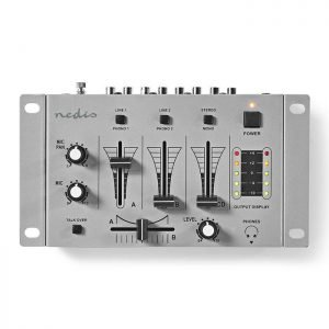 NEDIS MIXD050GY DJ Mixer, 3 Stereo Channels, Crossfader, Talkover Function   ΗΛΕΚΤΡΟΝΙΚΑ / ΕΡΓΑΛΕΙΑ   elabstore.gr