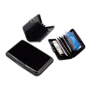 Πορτοφόλι προστασίας ανάγνωσης πιστωτικών καρτών, μαύρο | Gadgets | elabstore.gr