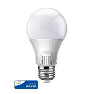 POWERTECH LED Λάμπα Bulb 9W, Daylight 6500K, E27, Samsung LED, IC | Φωτισμός | elabstore.gr