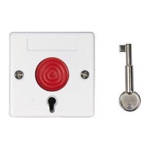 Ενσύρματο Κουμπί Πανικού με κλειδί απενεργοποίησης, White | Συναγερμοί | elabstore.gr