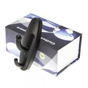 Κρεμάστρα με ενσωματωμένη κρυφή κάμερα, Black | Κλειστό Κύκλωμα CCTV | elabstore.gr
