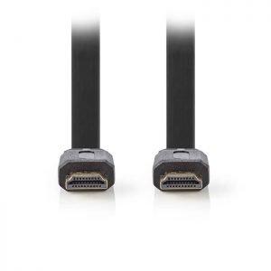 NEDIS CVGP34100BK100 Flat High Speed HDMI Connector - HDMI Connector, 10m, Black | ΚΑΛΩΔΙΑ / ADAPTORS | elabstore.gr