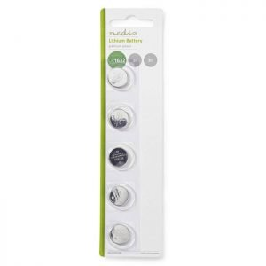 NEDIS BALCR16325BL Lithium Button Cell Battery CR1632, 3V, 5 pieces, Blister | ΜΠΑΤΑΡΙΕΣ / ENERGY | elabstore.gr