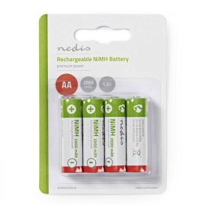 NEDIS BANM20HR64B Rechargeable Ni-MH Battery AA, 1.2V, 2000 mAh, 4 pieces, Blist | ΜΠΑΤΑΡΙΕΣ / ENERGY | elabstore.gr