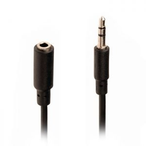 NEDIS CAGP22050BK20 Stereo Audio Cable, 3.5 mm Male - 3.5 mm Female, 2m, Black | ΚΑΛΩΔΙΑ / ADAPTORS | elabstore.gr