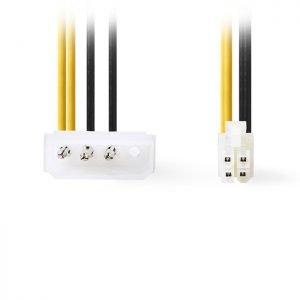 NEDIS CCGP74340VA015 Internal Power Cable, P4 Male - Molex Male, 0.15m | ΚΑΛΩΔΙΑ / ADAPTORS | elabstore.gr