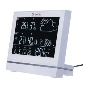 EMOS Μετεωρολογικός σταθμός E5005, υγρόμετρο, ημερολόγιο, ρολόι | Gadgets | elabstore.gr