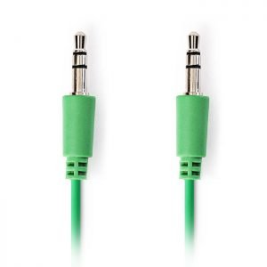 NEDIS CAGP22005GN10 Stereo Audio Cable, 3.5 mm Male - 3.5 mm Male, 1m, Green | ΚΑΛΩΔΙΑ / ADAPTORS | elabstore.gr