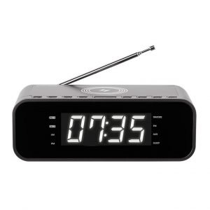 THOMSON Ξυπνητήρι CR255I, FM, ασύρματη φόρτιση, dual alarm, μαύρο | Εικόνα & Ήχος | elabstore.gr