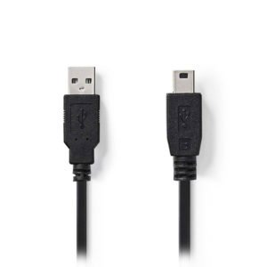 NEDIS CCGP60300BK30 USB 2.0 Cable A Male-Mini 5-pin Male 3.0m Black | ΚΑΛΩΔΙΑ / ADAPTORS | elabstore.gr