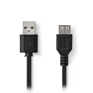 NEDIS CCGP60010BK02 USB 2.0 Cable A Male-A Female 0.2m Black   ΚΑΛΩΔΙΑ / ADAPTORS   elabstore.gr