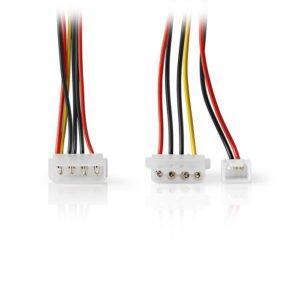 NEDIS CCGP74030VA015 Internal Power Cable Molex Male-Molex Female+3-pin Fan Powe | ΚΑΛΩΔΙΑ / ADAPTORS | elabstore.gr
