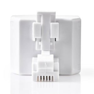 NEDIS TCGP90995WT Telecom Splitter RJ11 Male-2x RJ11 Female White | ΚΑΛΩΔΙΑ / ADAPTORS | elabstore.gr