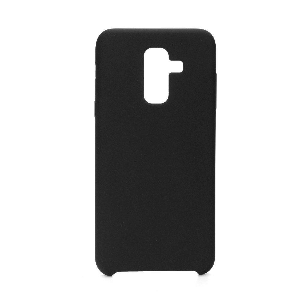 POWERTECH Θήκη Silicon Velvet MOB-1124 για Samsung A6 Plus 2018, μαύρη | Αξεσουάρ κινητών | elabstore.gr