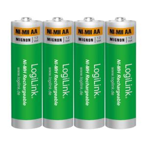 Battery NI-MH Rechargeable AA 1.2V Logilink LR6RB4 4pcs | RECHARGEABLE BATTERIES | elabstore.gr
