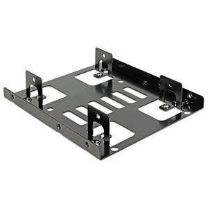 "DELOCK Tray μετατροπής από 3.5"" σε 2x 2.5"", Metal, Black   Συνοδευτικά PC   elabstore.gr"