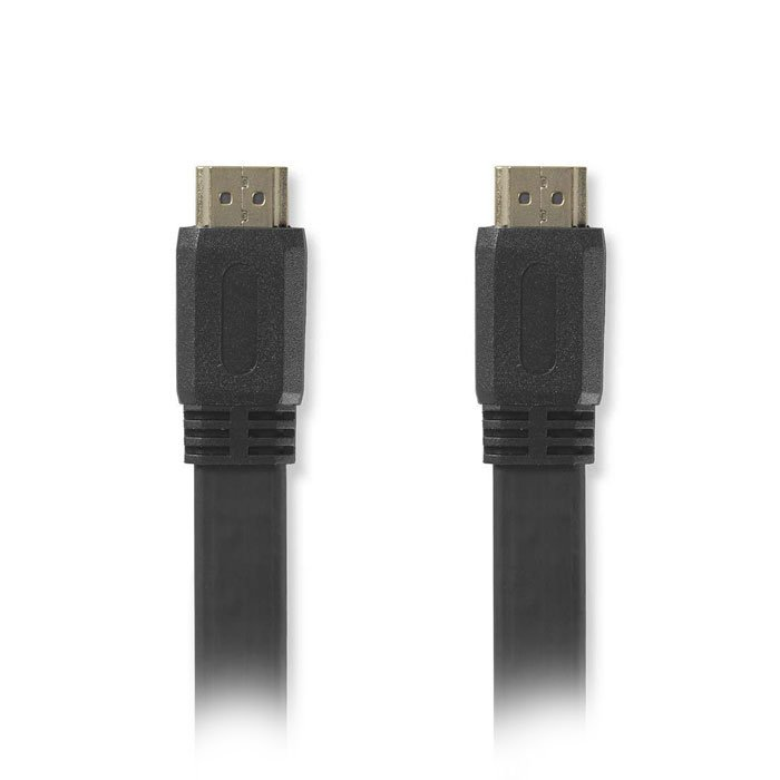 NEDIS CVGP34100BK50 Flat High Speed HDMI Cable with Ethernet HDMI Connector-HDMI | ΚΑΛΩΔΙΑ / ADAPTORS | elabstore.gr