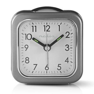 NEDIS CLDK005GY Analogue Desk Alarm Clock Light Grey | ΜΙΚΡΟΣΥΣΚΕΥΕΣ / ΕΠΟΧΙΑΚΑ / ΛΕΥΚΕΣ ΣΥΣΚΕΥΕΣ | elabstore.gr