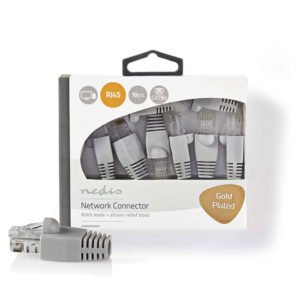NEDIS CCBW89350GY Cat 5 UTP Network Connector Set RJ45 Male-Free Strain Relief B | ΚΑΛΩΔΙΑ / ADAPTORS | elabstore.gr