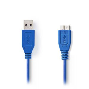 NEDIS CCGP61500BU50 USB 3.0 Cable A Male - Micro B Male 5.0m Blue | ΚΑΛΩΔΙΑ / ADAPTORS | elabstore.gr