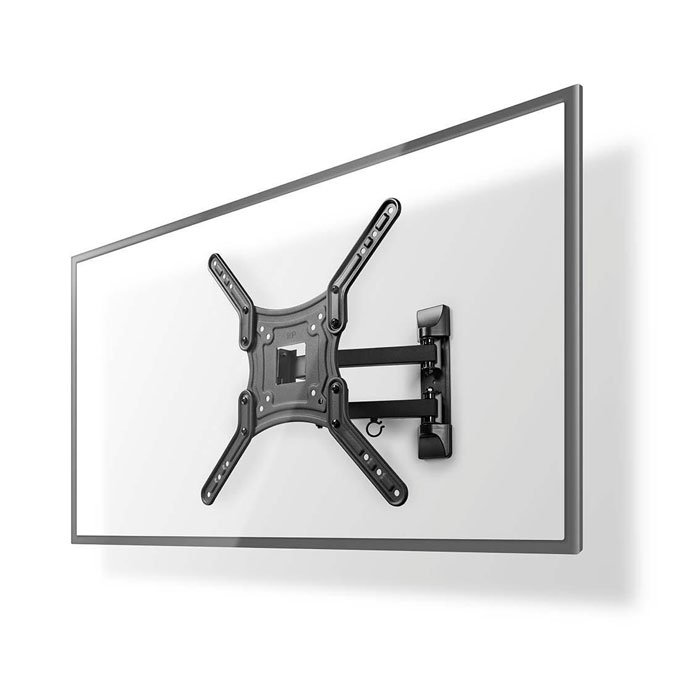 "NEDIS TVWM1530BK Full Motion TV Wall Mount 23-55"" Max 30 kg 3 Pivot Points 