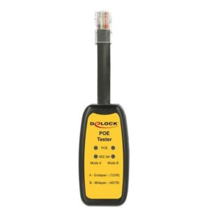 DELOCK Power over Ethernet Tester 802.3af/at, RJ45 | Εργαλεία | elabstore.gr