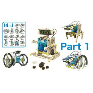 Εκπαιδευτικό robot kit AG211B, 14 σε 1, Ηλιακό   Παιχνίδια   elabstore.gr