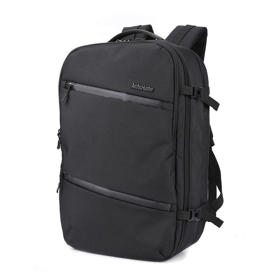 ARCTIC HUNTER τσάντα πλάτης B-00184, laptop, USB-3.5mm, αδιάβροχη, μαύρη | Οικιακές & Προσωπικές Συσκευές | elabstore.gr