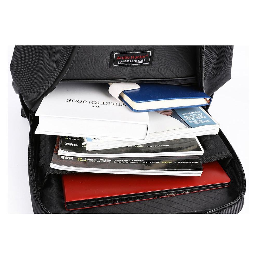 ARCTIC HUNTER τσάντα πλάτης B00120C-BK, laptop, USB, αδιάβροχη, μαύρη | Οικιακές & Προσωπικές Συσκευές | elabstore.gr