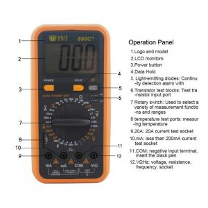 BEST Ψηφιακό πολύμετρο BST-890C+, LCD display 3 1/2 ψηφίων   Εργαλεία   elabstore.gr