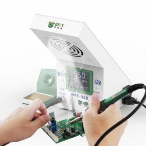 BEST Soldering Station BST-938 με σταθμό απορόφησης καπνού και LED φως | Εργαλεία | elabstore.gr