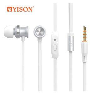 YISON ακουστικά με μικρόφωνο D7, λευκό | Αξεσουάρ κινητών | elabstore.gr