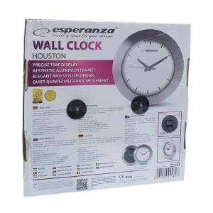 ESPERANZA ρολόι τοίχου Houston EHC011W, λευκό   Οικιακές & Προσωπικές Συσκευές   elabstore.gr
